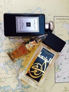 Joe Malone Oud & Bergamot, La Via del Profumo Mecca Balsam och Perfume Calligraphy från Aramis