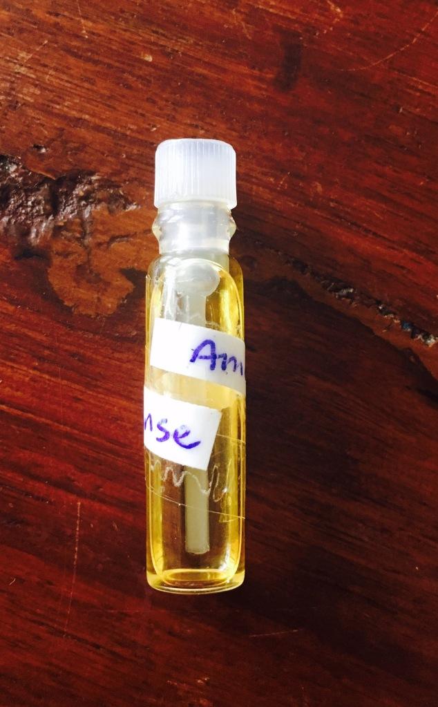 Amber Incense, Sonoma Scent Studio, sample