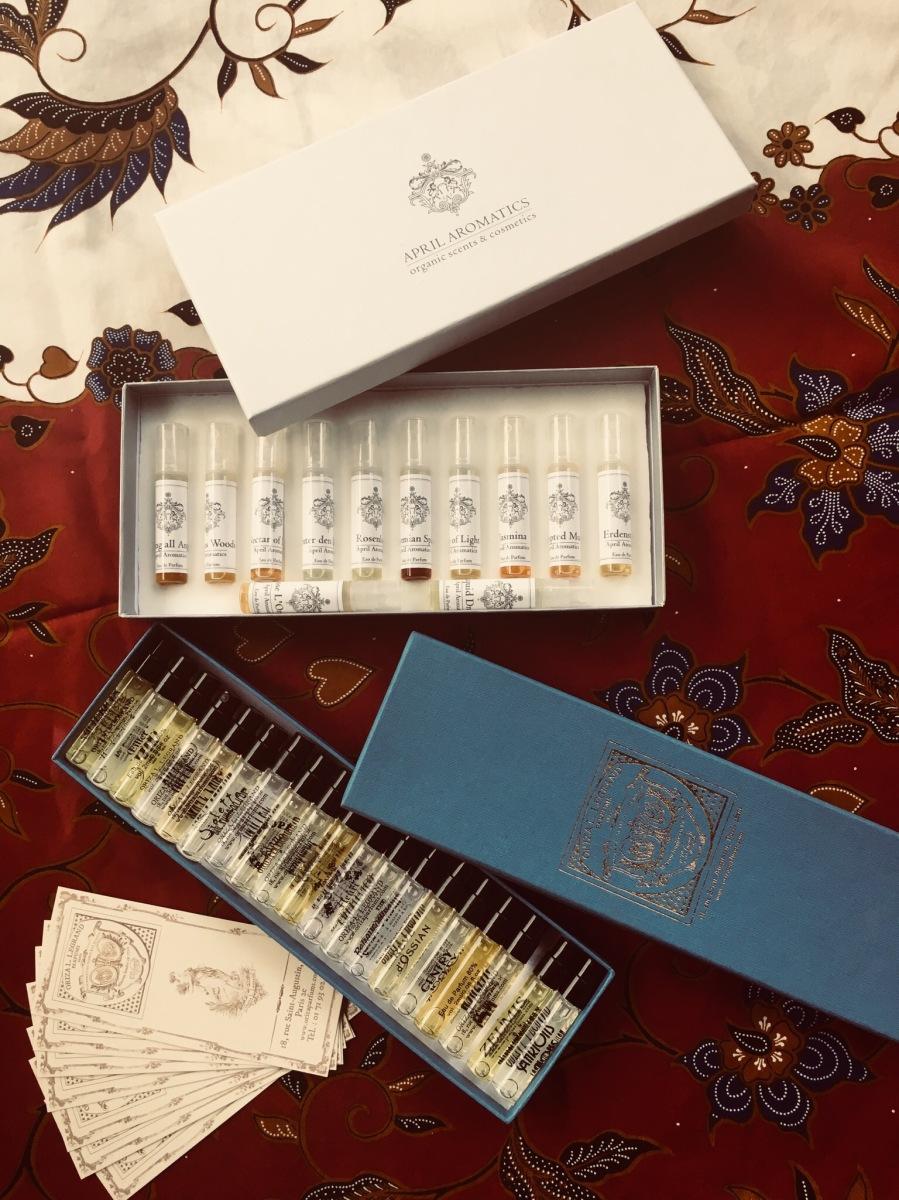 Tema: Sample sets, parfymprover och julklappar