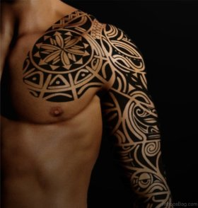 Black-Maori-Tattoo-On-Full-Sleeve