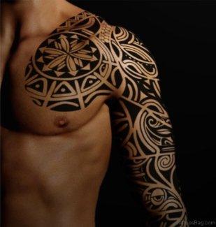 Black-Maori-Tattoo-On-Full-Sleeve